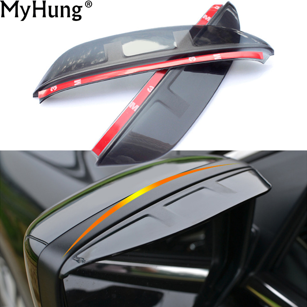 Car Rear Mirror Visor Rain Snow Guard Sun Visor Vent For Toyota Corolla 2009 2010 2011 2012 1pair Car Styling Auto Accessories auto rain shield window visor car window deflector sun visor covers stickers fit for toyota noah voxy 2014 pc 4pcs set