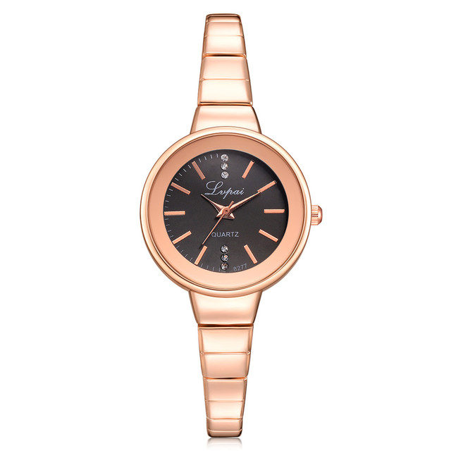 Top Brand Women's Watches Fashion Leather Wrist Watch Stainless Steel Bracelet w