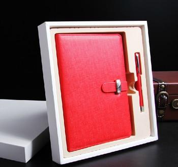 Nouvel ensemble de cadeaux de luxe pour porte-carte de crédit en cuir PU et stylo assorti pour les Clients et les amis