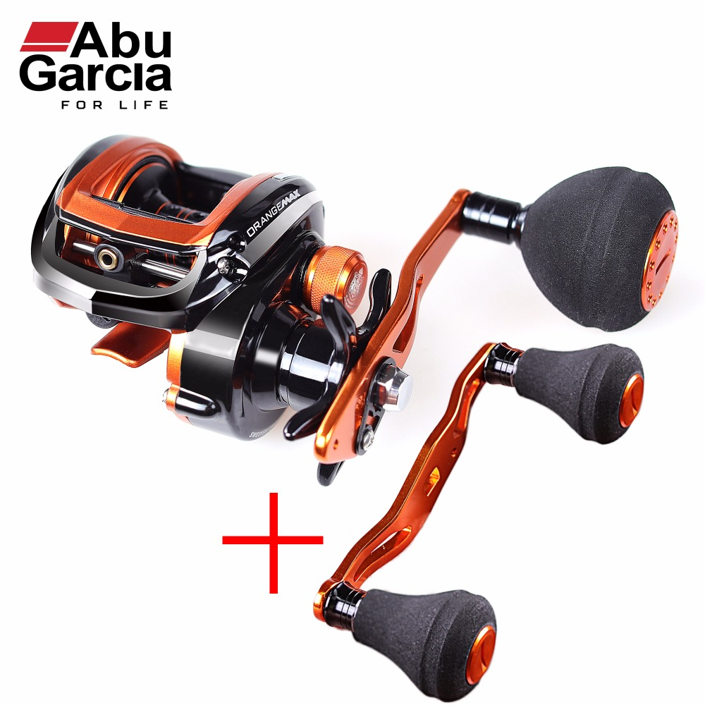 Abu Garcia Brand Orange Max3 Right Left Hand Fresh Sea Water BaitCasting Reel Carp Fishing Gear Baitcasting 5BB 7.1:1 OMAX3 abu garcia revo3 sx hs hs l 10bb 7 1 1 bait casting reel super smooth low profile water drop wheel left right hand max drag 9kg