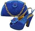 Moda Italiana de Zapatos Con Bolso A Juego de La Moda de Italia Zapato Y Bolso para que Coincida Con Las Mujeres Africanas Zapatos Y Bolso Para El Partido GF8001
