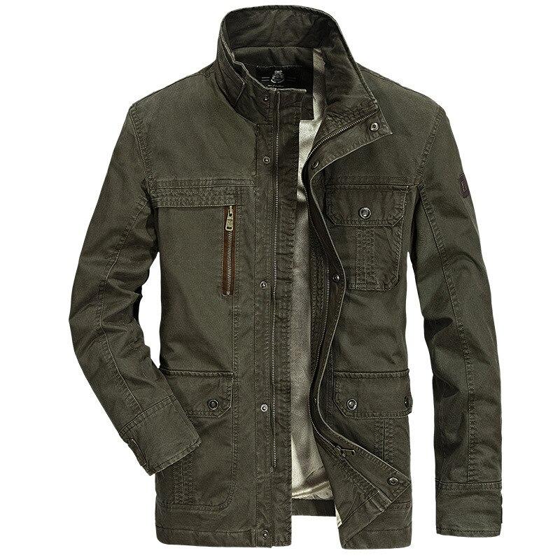 2017 New Mens Autumn Winter Jackets And Coats Plus Size M-4XL Men Plus Velvet Warm Jacket Military Style Outerwear 148zr