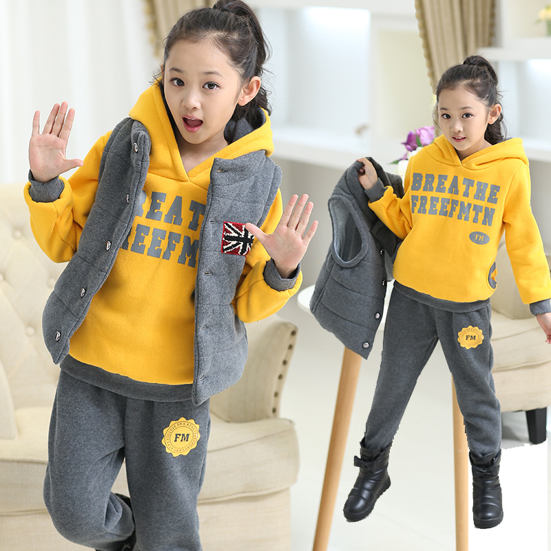 цены Winter Girl Boy 3pc Suit Toddler Kids Clothes Warm Outfits Baby Set Fashion Vetement Enfant Children Clothing Tracksuit