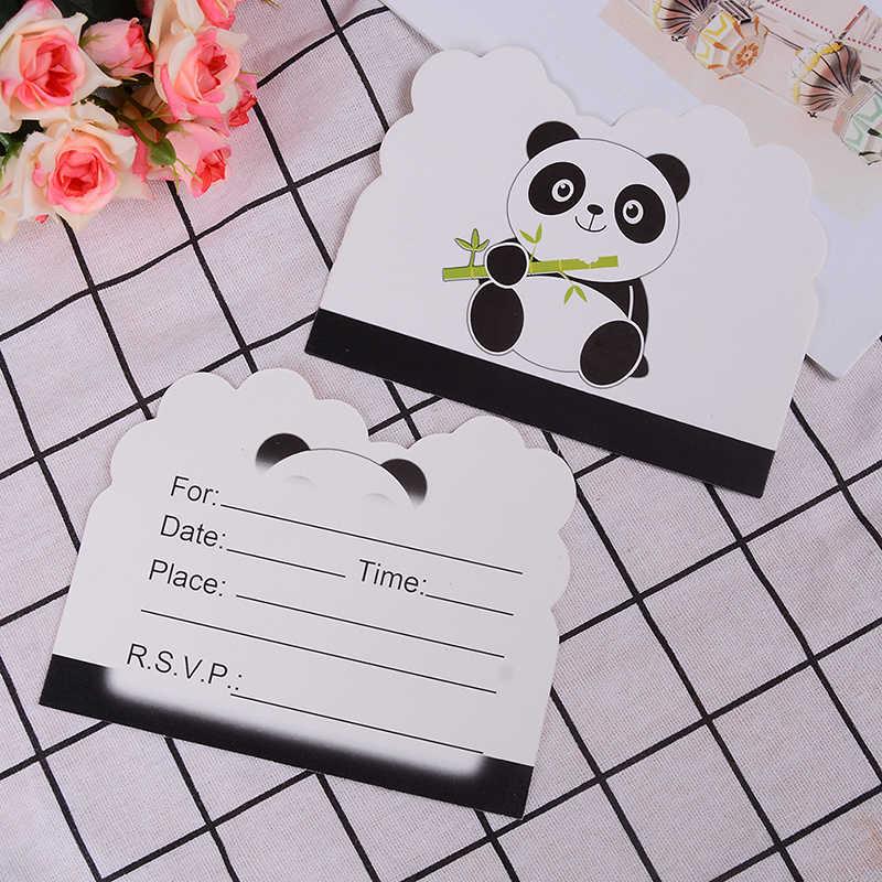 6/10/25pcs Panda Party ชุดตกแต่งจาน/ถ้วย/ผ้ากันเปื้อน/Popcorn/ไม้ไผ่/ไม้ไผ่/หลอดทารกฝักบัววันเกิด Decors เด็กอุปกรณ์