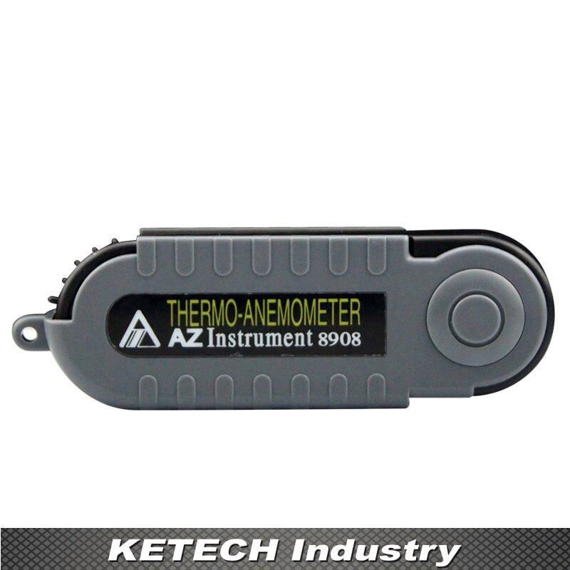 AZ8908 Handheld Pocket Wind Speed Meter Digital Anemometer