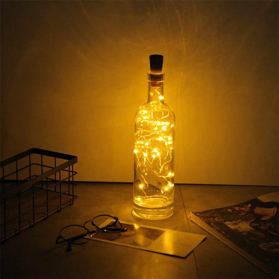 2 M LED Garland สายไฟทองแดง Corker string ไฟ fairy สำหรับ glass ขวดหัตถกรรมใหม่ปี/คริสต์มาส/วาเลนไทน์งานแต่งงานตกแต่ง