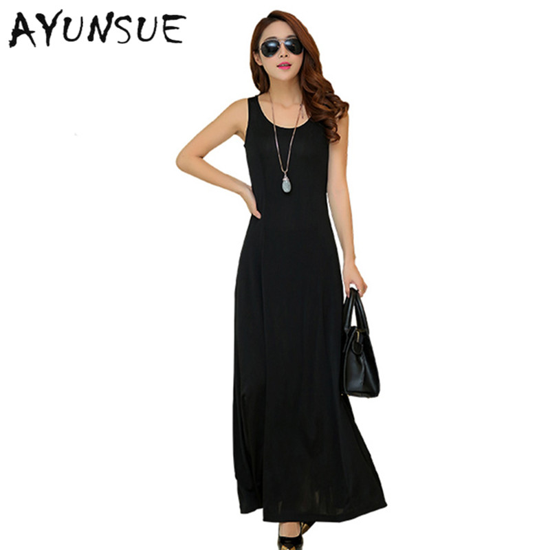 Summer Dress Women 2020 Fashion Casual Maxi Dress Plus Size Black Dresses Boho Sundress Party Ladies Elegant Vestidos De Fiesta