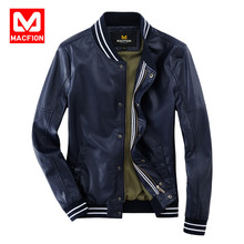 Brand Men's Leather Clothing Single Breasted  Waterproof Leather Coat  Male Casual Leather Jacket High Quality