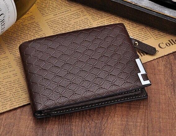 b6a4548ebd34 2018 Men's Leather Wallets zipper Card Holder Men Coin Purse designer men  wallets famous brand leather wallet with coin pocket-in Wallets from  Luggage ...