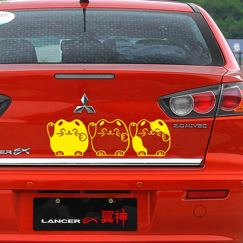Lovely cats decoration sticker on car,car tail stickers and decals for ford fiesta/toyota corolla/mini cooper,5 colors