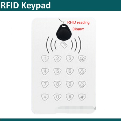 433Mhz wireless Smart RFID keypad for G90B Plus wifi GSM alarm System to Arm/disarm Alarm system secual box v2 etiger wifi alarm system gsm safety alarm system with rfid reading keypad arm disarm alarm system