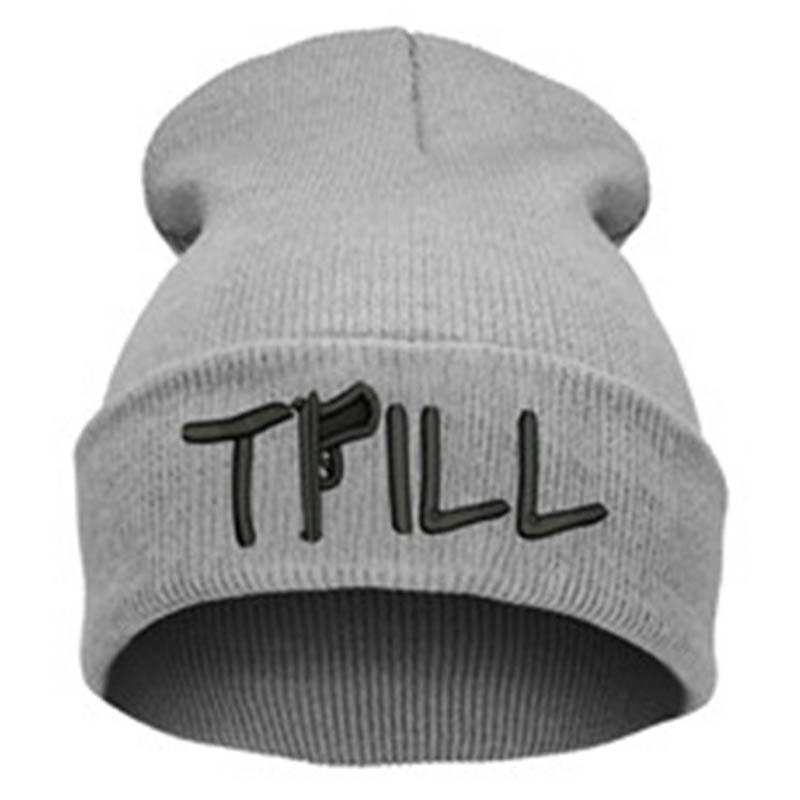 Casual Beanie Cap Knitting Thick Warm Mens Winter Hats Trill Beanies Hiphop Letter Hat for Women Outdoor Sport Cap Gorros Hombre hters hiphop fashion letter hats gorros bonnets cocain