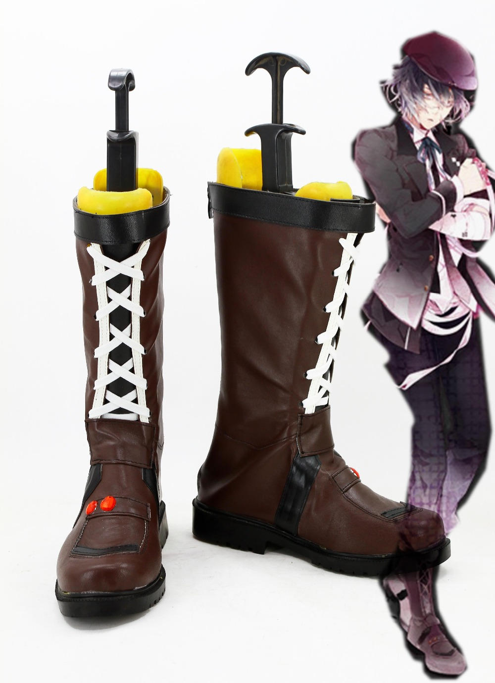 New DIABOLIK LOVERS Mukami Azusa Cosplay Boots Anime Shoes Halloween Carnival For Men
