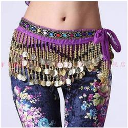 Новый стиль танец живота костюмы шифон золотые монеты Belly Dance Hip шарф для женщин Танец Живота Ремни