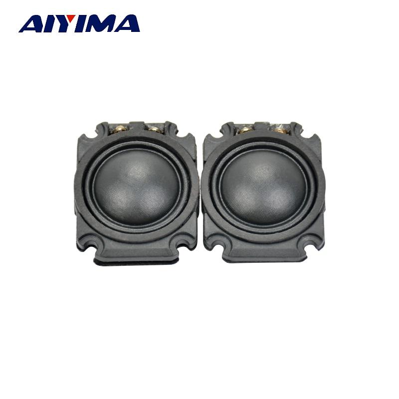 Aiyima 2Pcs Tweeter Car Loudspeakers Portable Mini Tweeters Eltax Silk Film Treble car treble Car Audio Speaker 1Inch 4 Ohm
