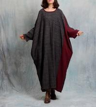 Retro Vintage Dubai Muslims Luxury Cotton linen Dress long sleeve casual polka dot patchwork dress
