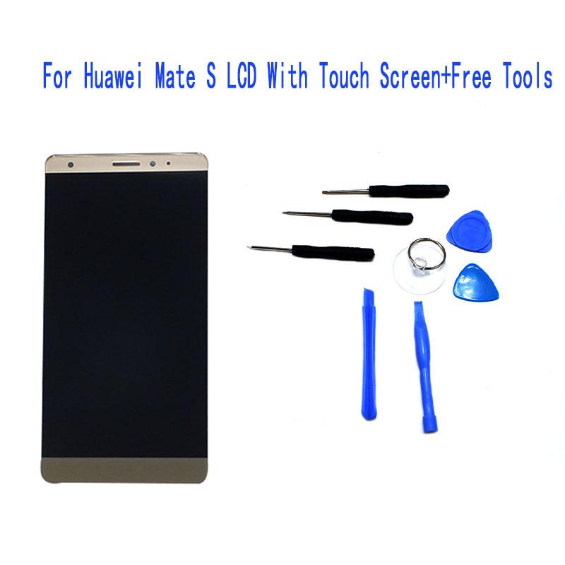 Prix pour 100% Garantie LCD de Remplacement Pour Huawei Mate S Écran lcd Avec Écran Tactile Digitizer Assemblée numéro de suivi + outils cadeau