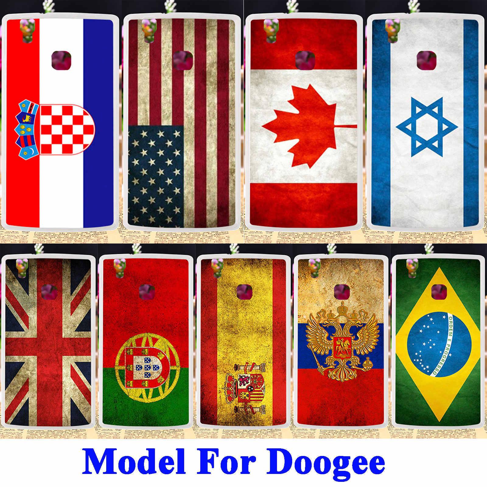 Anunob Molle Del Telefono di TPU Della Copertura di Caso Per Doogee X5 Max X5 Max Pro F5 X5 X6 Y6C Y6 Y100 Pro homtom HT3 Pro HT16 HT17 Borsa Bandiera Borsette