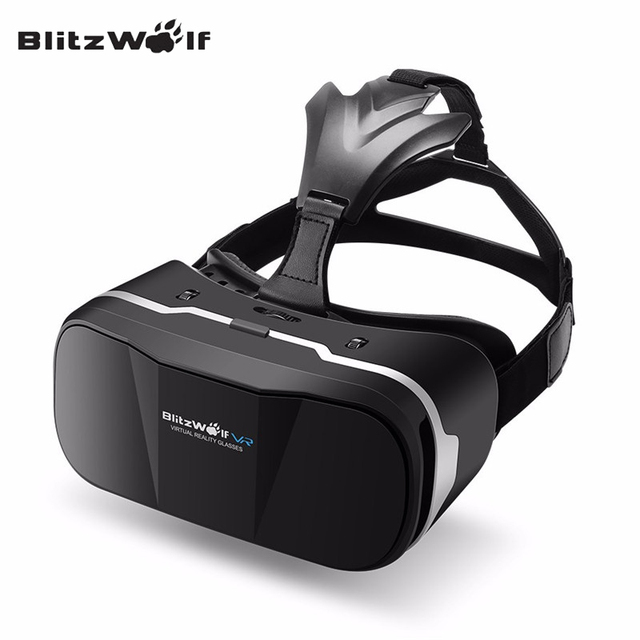 BlitzWolf Original BW-VR3 3D VR Glasses Box Virtual Reality Headset HeadMount For 3.5-6.3 inch Smartphone For iPhone 7
