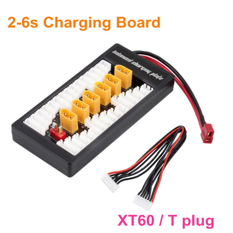 цена на 2S-6S Lipo Parallel Charging Board / Charging Plate T Plug XT60 plug for RC Battery Charger Imax 6 Charger B6AC B8 Free Shipping