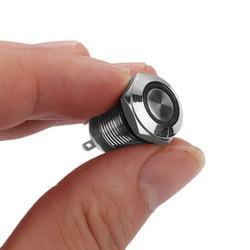 1 PC Led-lampe Nachtlicht Push Button Switch 12mm Momentary Self-Locking Schalter Wasserdichte Metall 4 Pin großhandel Neue