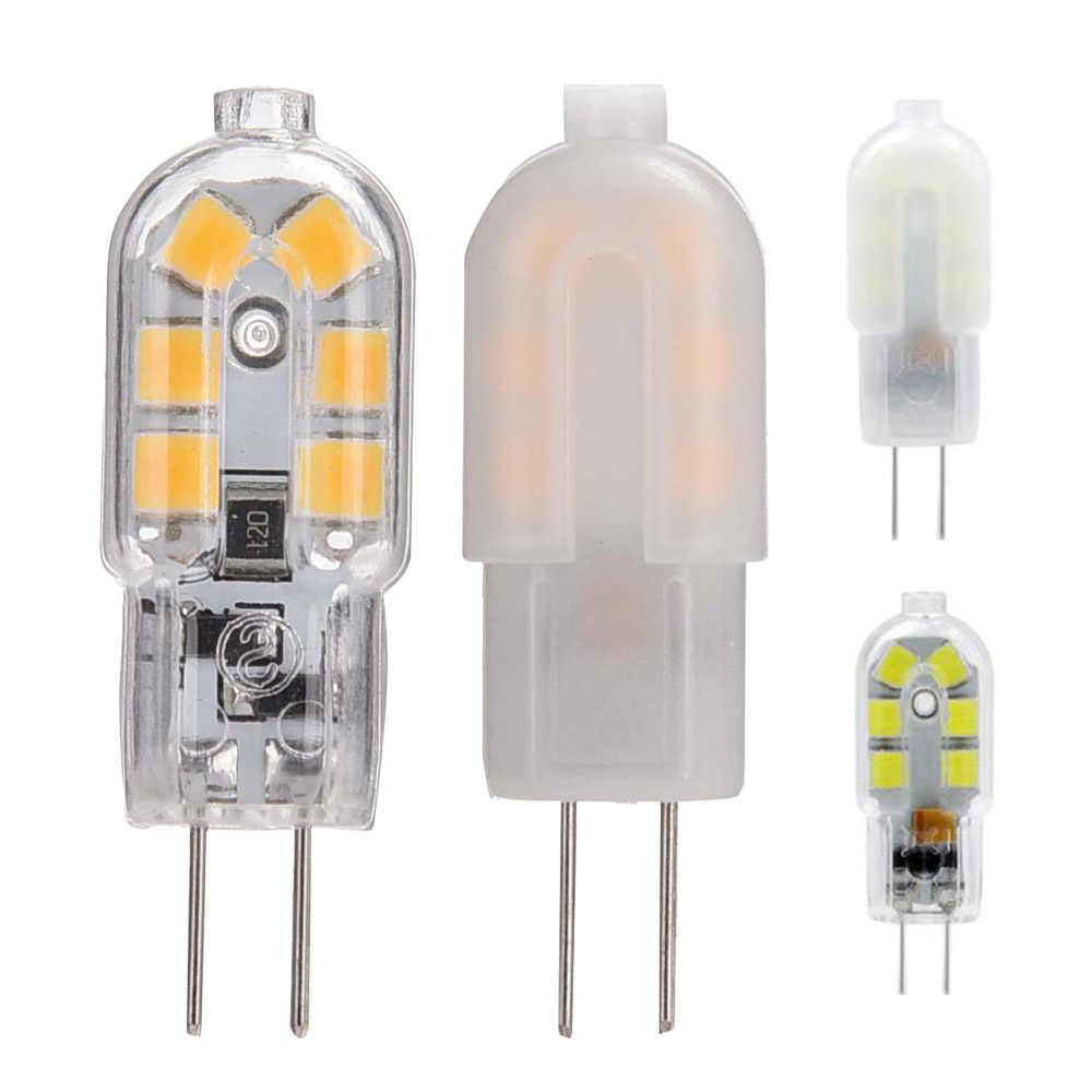 10pcs Ac Dc 12v 3w 2835 Smd G4 Led Bulb Bi Pin Base 25w Halogen Bulb Equivalent Milkly Transparent Cover Warm White Cool White