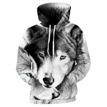 Купить Cloudstyle Black White Casual Hoodies Men Women 3D Sweatshirt Animal Dog Husky Wolf Printed Hoodie Funny Pullover Winter Jacket в Москве и СПБ с доставкой недорого