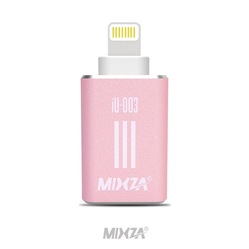 MIXZA IU003 2in1 TF lecteur de carte sd carte adaptateur pour iphone 6 s 7 plus Pendrive métal L'expansion OTG USB flash drive mémoire bâton