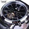 Мужские часы автоматические механические часы tourbillon часы кожаные повседневные Бизнес наручные часы relojes hombre Топ бренд класса люкс
