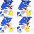 4 Type Pokeball Pikachu Alloy Keychain Poke Ball Pendant Japan Anime Kids Gifts Collection Toys #F