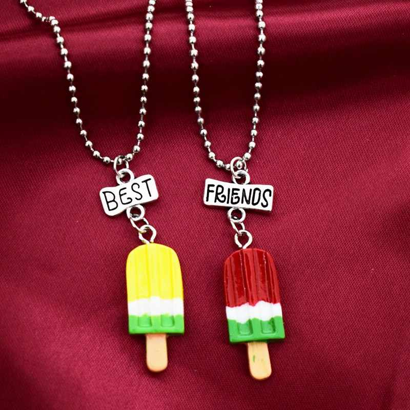 Simulation Ice Cream Popsicle Bff 4 Pendant Necklace Children Best Friends Forever Boys Girls Friendship Jewelry Birthday Gift Aliexpress