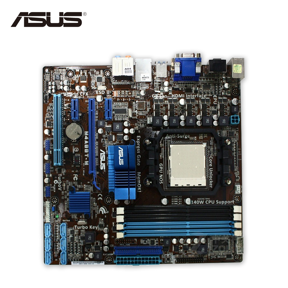 все цены на Asus M4A88T-M Original Used Desktop Motherboard 880G Socket AM3 DDR3 SATA II USB2.0 uATX онлайн