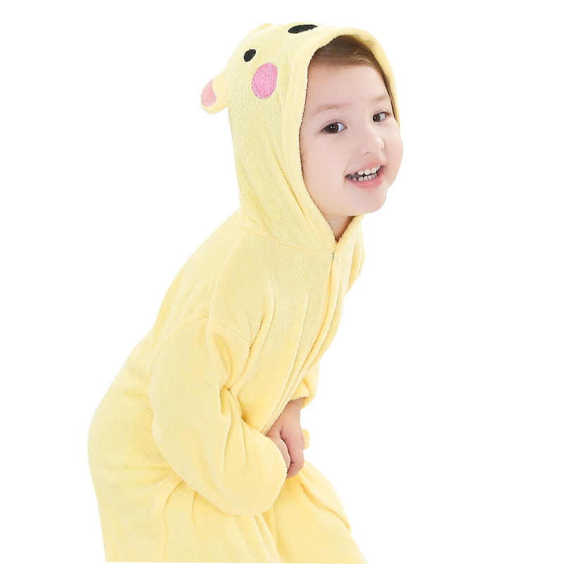 hot sale Baby Bathrobes For Children Coral Velvet Bathrobes Dressing ...