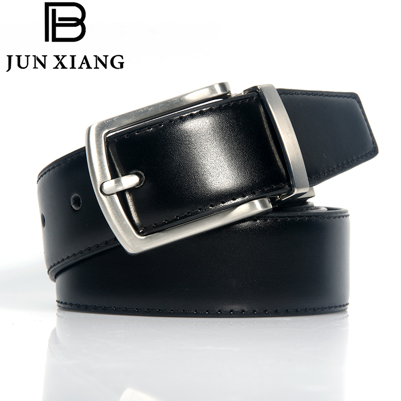 High Quality Fashion Mens Belt Metal Alloy Rotary Pin Buckle Dual Belt Brown Black 5 Hole Suitable for Pants Jeans Boy Gift