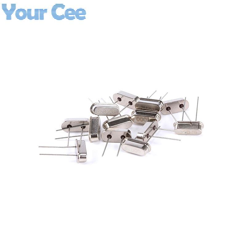 Best Price!!! 6MHz 6 MHz 6M Hz 6.000M Passive Quartz Resonator Crystal Oscillator HC-49S Electronic Component 10pcs per each