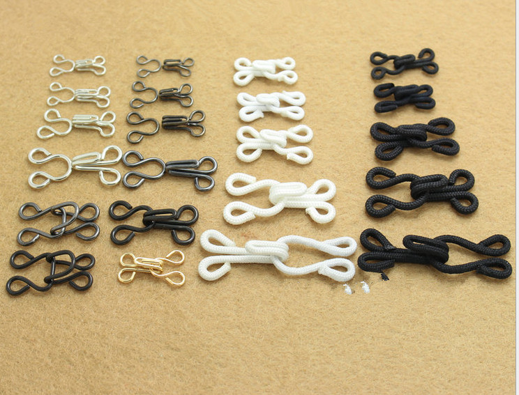 ef8c94d5a20ed Fabric Covered Brass Hook Eye Closure Bra Back Repair Fasteners Sew On Fur  Coat Suit