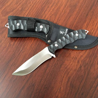 Outdoor EDC Self Defense Real Knife Camping Hunting Survival Straight Knife CS Go Counter Strike Tactical