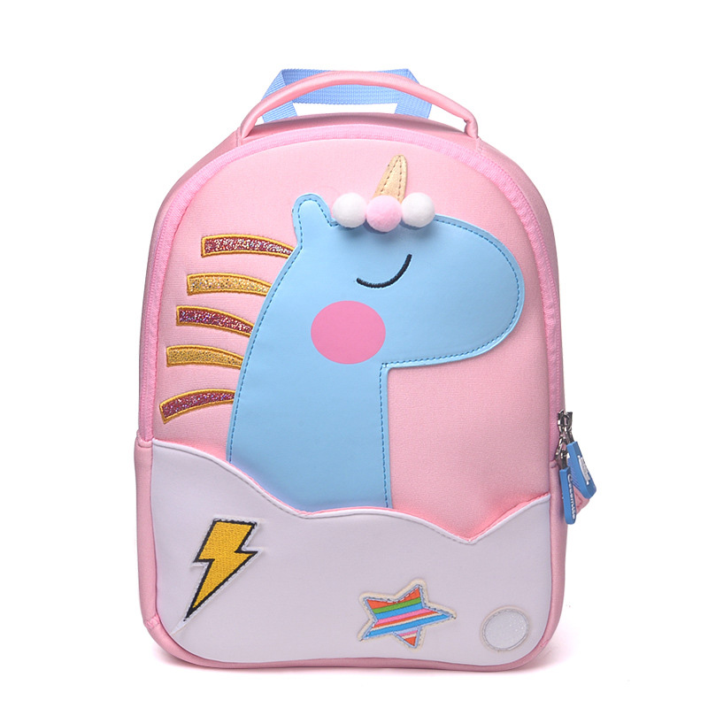 Toddler UFO Backpack, Children School Bags For Girls Boy 3D Cartoon Rainbow Unicorn Design Kids Backpack