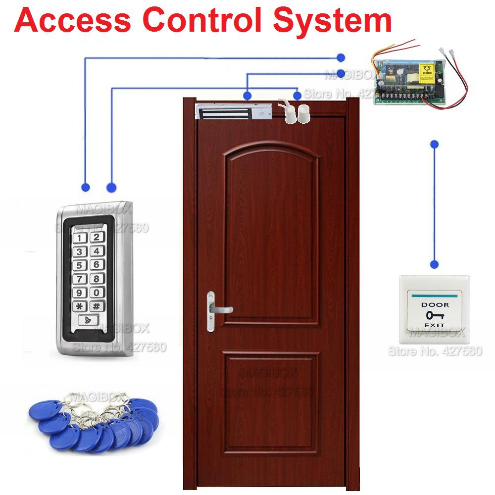 125khz Waterproof Door Access Control System Set Magnetic Lock 280kgswitchpower Supply