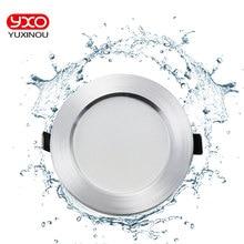 1 adet kısılabilir Led downlight 5W 7W 9W 12W 110V 220V su geçirmez Led tavan lambası lambaları led tavan lambası ev iç mekan aydınlatması