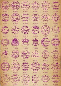 Image 5 - Design Your Own Embosser Stamp / Custom Embosser Seal for Personalized / Wedding Seal