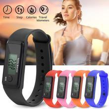 High Quality Run Step Lovers Watch Bracelet Pedometer Calori