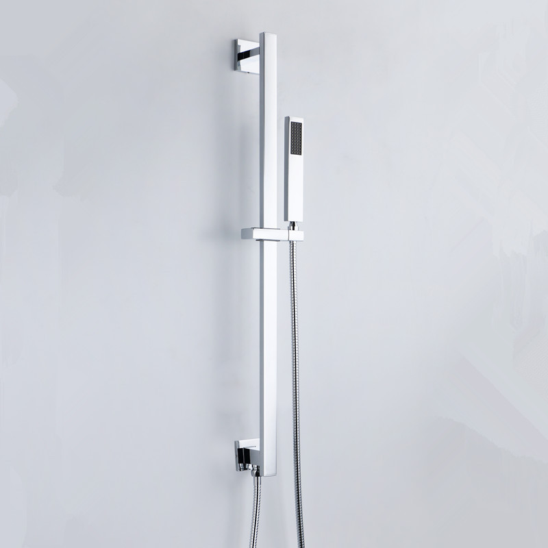 High Quality Wall mounting Square Style Shower Rail + Shower Elbow ...