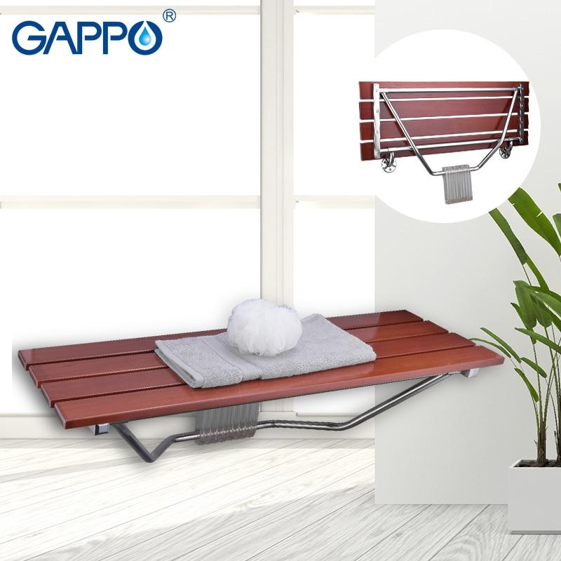 GAPPO Wall Mounted Shower Seats Folding Bath Shower Seat Relaxation ...