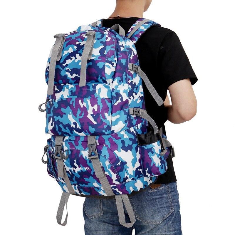 Grande capacité 50L sacs de plein air étanche Nylon Sports voyage Camping randonnée sac à dos escalade alpinisme sac à dos DSB09