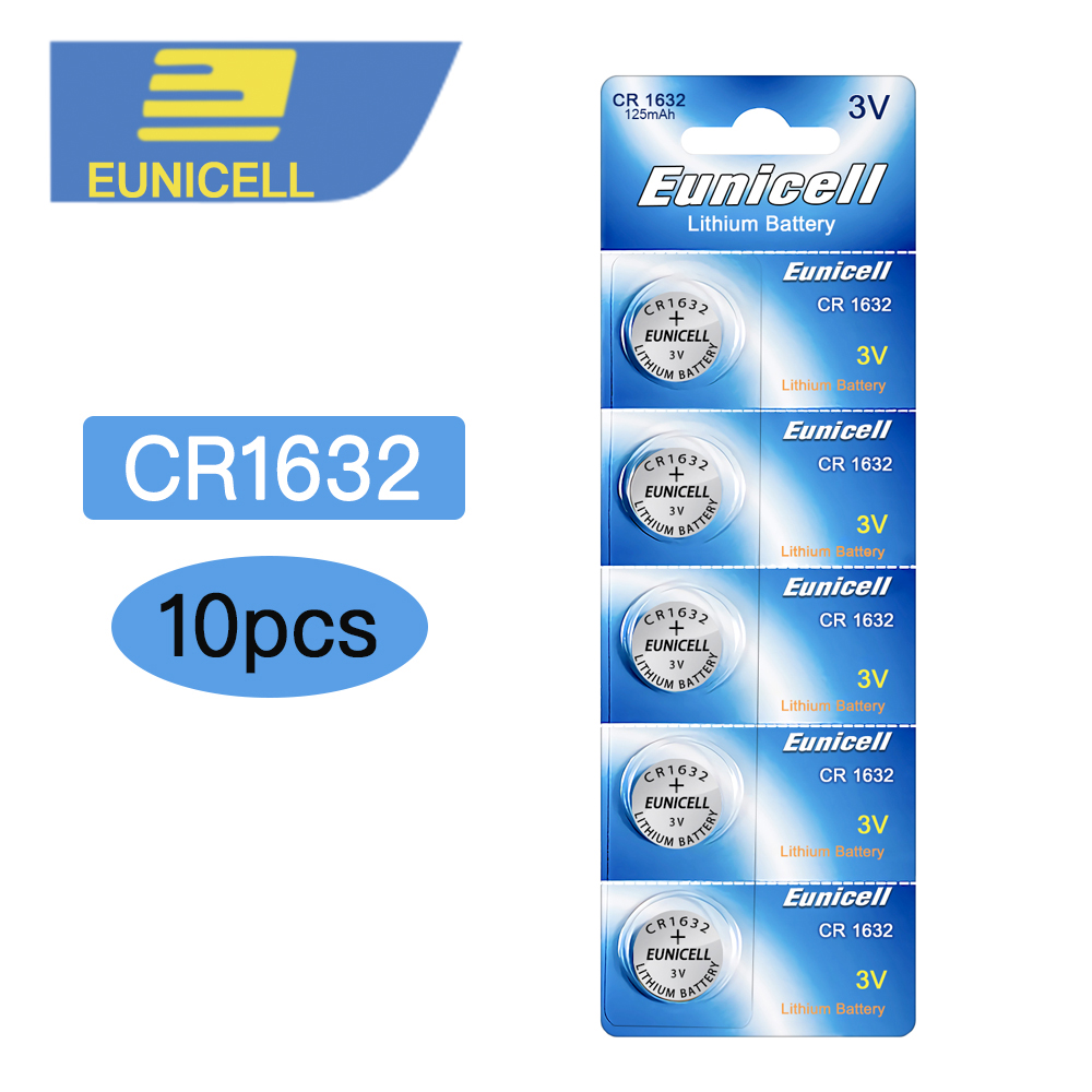 10pcs CR1632 CR 1632 ECR1632 DL1632 KCR1632 LM1632 3V Lithium Button Cell Battery Batteries For Toys Watch 2Cards