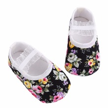 Fashion floral baby girl shoes