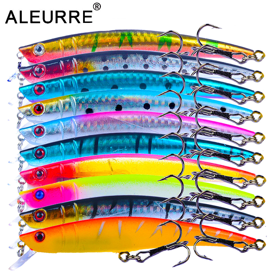 1pc 8cm//9g fishing lures minnow artificial hard bait wobblers with 3d eye BDAU