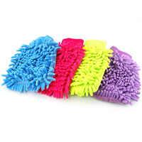 MEOF Einfach Mikrofaser Auto Küche Haushalt Waschen Waschen Reinigung Handschuh Mit UK