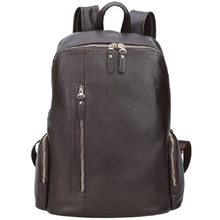 Backpack Bags Women Men Cow Leather  2019 Male Travel Large 14
